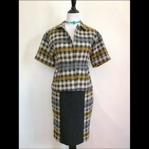 Dresses & Skirts - 1960s Vintage Style Houndstooth Suit: Jacket/Skirt